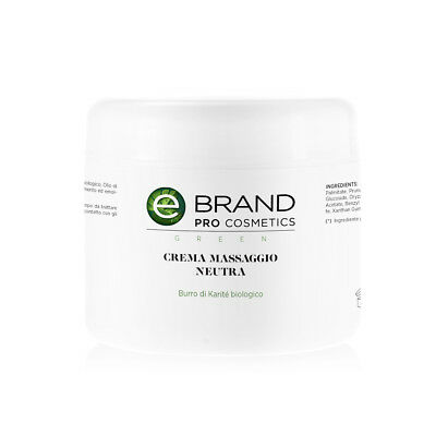 Crema Massaggio Corpo Neutra - Ebrand Green - Vaso da 500 ml