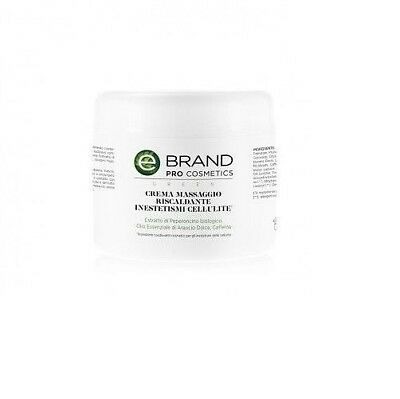 Crema Massaggio Corpo Trattamento Cellulite - Ebrand Green - Vaso 500 ml