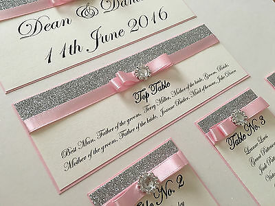 Personalised A3 / A2 Glitter & Diamante Wedding Seating Plan