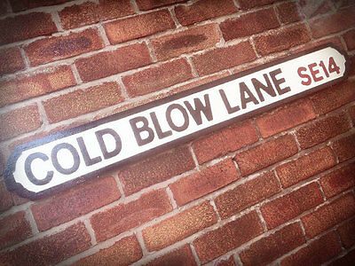 Cold Blow Lane Vintage Millwall Street Sign Road Sign Football The Den