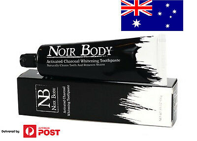 Activated Charcoal Fluoride-free Whitening Toothpaste (100g) by Noir Body
