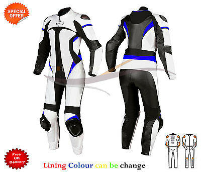Motorbike Motorcycle Leather racing 1 & 2 piece Suit can be customize any size