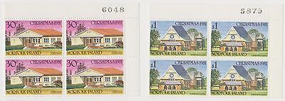 (OX-58)1981 Norfolk Island 4set4block ChristmasChurches SG265-8 sheet no'sMUH(A)