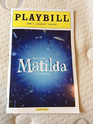 Matilda The Musical Nyc Broadway Playbill 2016