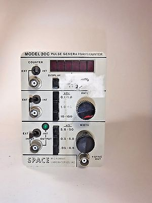 Space Microwave Lab Model 30C Pulse Generator/Counter