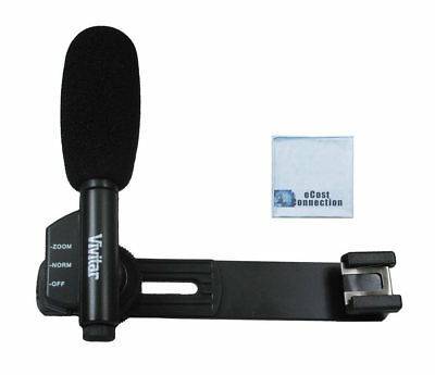 Vivitar MIC-403 Mini Zoom Camcorder Microphone with 6 feet Extension Cable