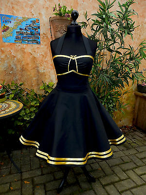 50er Petticoat Rockabilly Abiball Abend Pin Up Kleid Party Tanz Cocktail Dress