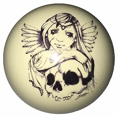 Pool/Billiards Angel with Wings over Skull Custom Cue Ball Great Gift!