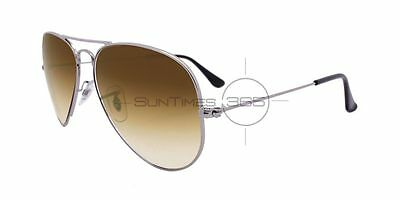 RAY BAN AVIATOR RB3025 004/51 58 Gunmetal / Light Brown Gradient