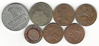 25. A Lot Of 7 Tokens From Germany / Trade Token & Maybe Others Damiler - Benz