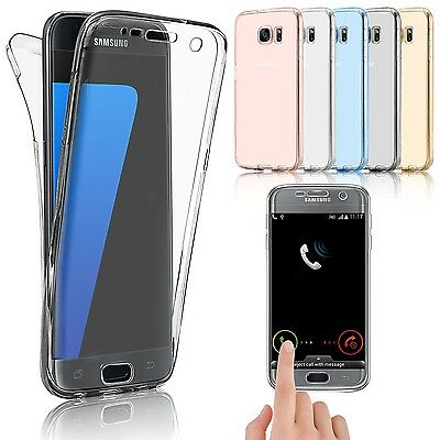 Front & Back Shockproof 360° Protective Clear Gel Case Cover for Samsung Galaxy