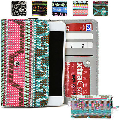KroO ESPS-9 LG Aztec Patterned Protective Wallet Case Cover for Smart-Phones