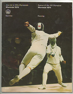 Orig.Complete PRG    Olympic Games MONTREAL 1976  -  FENCING  !!   VERY RARE
