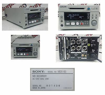 Sony MDS-B5 MD Mini Disc Player Recorder