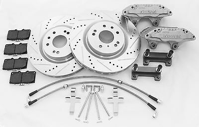 240Sx Track Edition Front Big Brake Kit 350Z Brembo Rotors With 300Zx Calipers