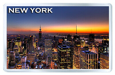 New York Sunset Mod5 Fridge Magnet Souvenir Iman Nevera