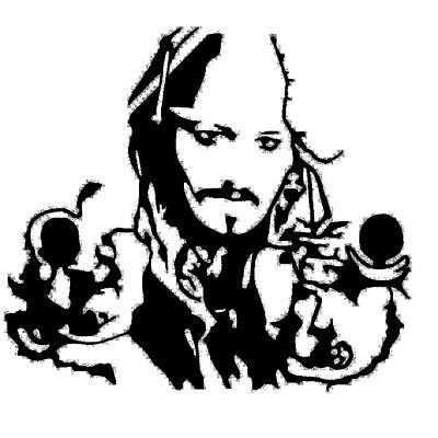"Captain Jack Sparrow Vinyl Decal Sticker 4"" Car Window Laptop Iphone USA Seller"