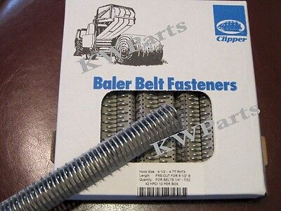 "Clipper 6"" belt hook lacing round baler repair fasteners 4-1/2 - 4 RHTX 02435"