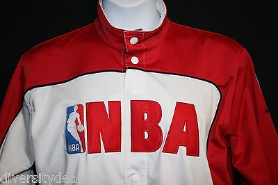 *nike Team* Nba Women Warm Up Jacket Red & White Size L Excellent Condition