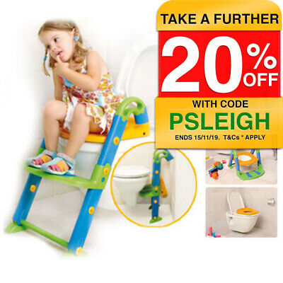 KidsKit 3in1 Children Toddler Kids Toilet Training Seat Potty Trainer/Ring/Step
