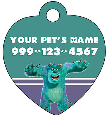 Disney Sulley Monsters Inc Pet Id Tag for Dogs & Cats Personalized for Your Pet