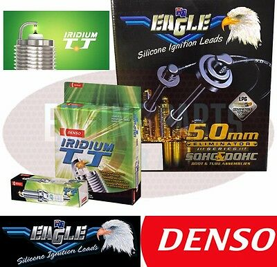 Ignition Leads & Denso Spark Plugs fits Mitsubishi Challenger 98 on 6G72 3.0L V6