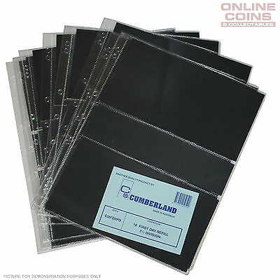 Cumberland 2.5 Pocket Clear PVC Punched 7 Hole Pages Packet of 10