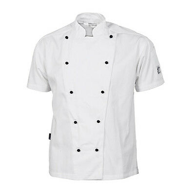 Chef Jacket White Short Sleeve DNC Comfort Traditional All Sizes XXS to 4XL Cook