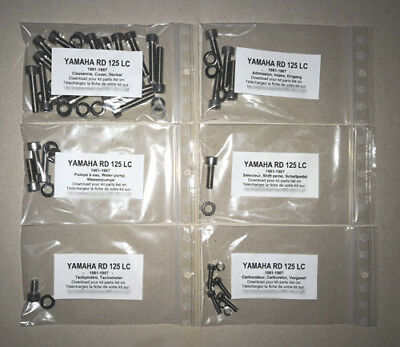 YAMAHA RD125LC STAINLESS Engine Cover Bolts - £7 62 | PicClick UK