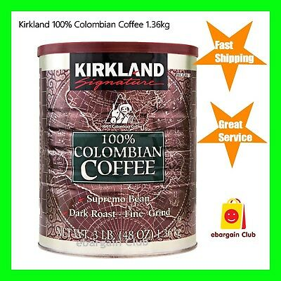 Kirkland 100% Colombian Coffee Supremo Bean Dark Roast Fine Grind