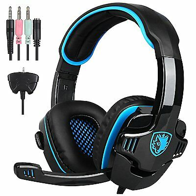 Sades 3.5mm Pro Gaming Headset WCG Headphone w/mic for PC PS4 XBOX 360