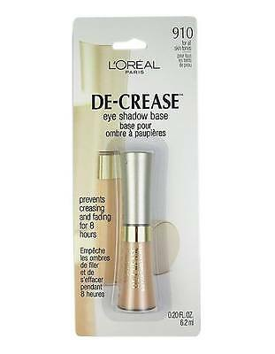 L'oreal De-Crease Eye Shadow Base For All Skin Tones (910) Choose Your Quantity