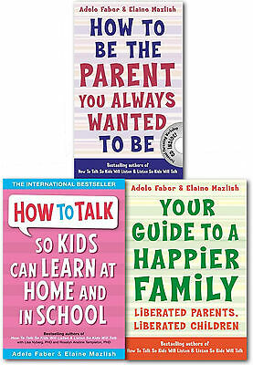 How to Talk So Kids Can Learn 3 Books Collection Set Happier Family, Parents You