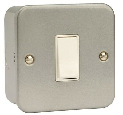 Click - Metal Clad 1 Gang 2 Way 10AX Plate Switch - CL011
