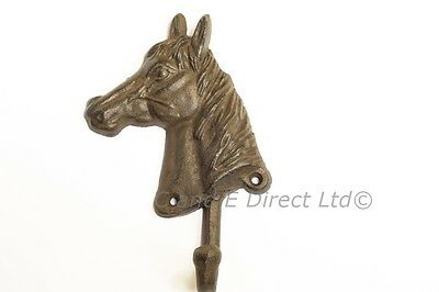 Cast Iron Decorative Home Garden Single Coat Door Hook Horse Head Design NEW