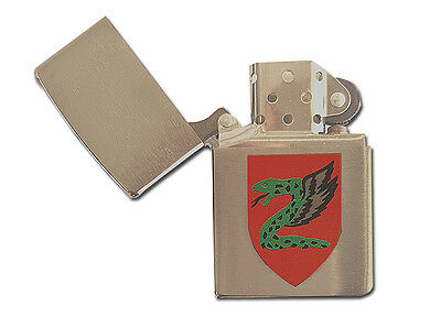 ZIPPO lighter 200 ISRAELI MILITARY 6 SN Brushed Chrome IDF Paratroopers Brigade