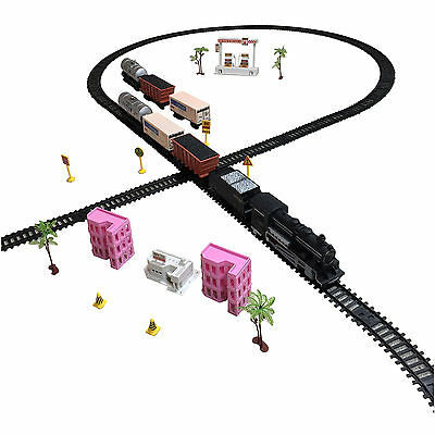 KIDS TRAIN SET by TRAIN FAMILIAL with Sound and Light - Battery Operated