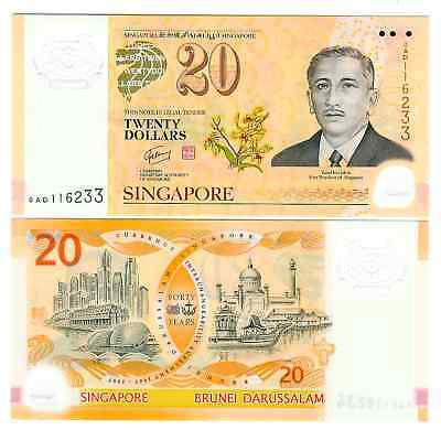 Singapur Singapore 20 $ Commemorative Polymer 2007 Unc P 53