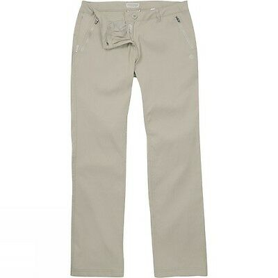 Craghoppers Kiwi Pro Stretch Trousers, Womens Walking Trousers.  Colour Mushroom