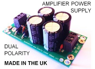High Quality Dual Symmetrical Power Supply for Audio Amp UK Designed & Produced