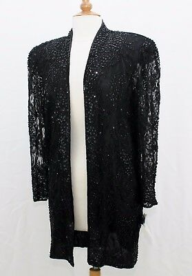 Jasdee Vintage Long Sheer Sleeve Jacket Hand Work Bead&Sequins On LaceStyle 3086