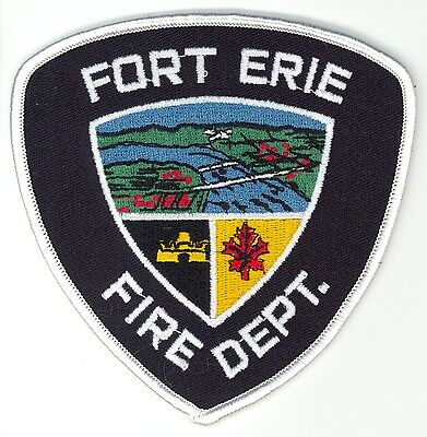 Vintage Fort Erie Fire Department Uniform Patch Ontario ON
