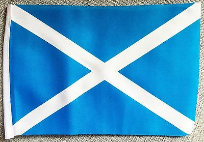 "SCOTLAND ST ANDREW LIGHT BLUE mini flag 9"" x 6"" 22cm x 15cm flags SCOTTISH"