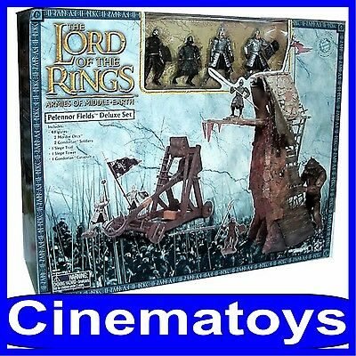 LOTR LORD OF THE RINGS PELENNOR FIELDS DELUXE SET action figures e accessori