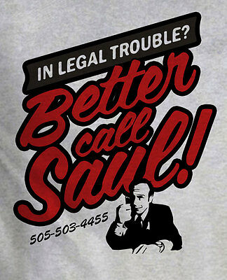 Better Call Saul Goodman Breaking Bad Heavy Wt Grey T-Shirt Ideal Gift