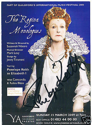 Penelope Keith The Regina Monologues Hand Signed  Photograph card 6 x 4