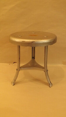 Franklin Equipment Co Steel Milking Stool NOS Antigue Steam Punk Monticello IA