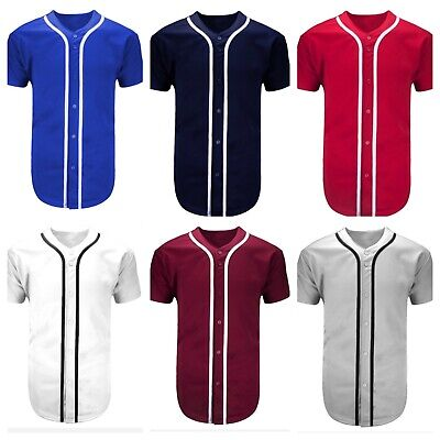 Men Baseball Jersey T-Shirt Plain Sports Raglan Fashion Hipster & Kids COTTON Baseball & Softball Clothing, Shoes & Accessories