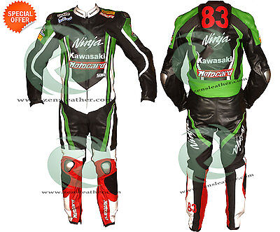 motorbike racing leather suit one piece with matching gloves biker leather suit