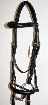 FSS COMFORT Padded Headpiece Baroque Hanoverian DROP Dropped Noseband Bridle NEW